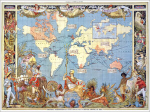 1886 poster of the British Empire